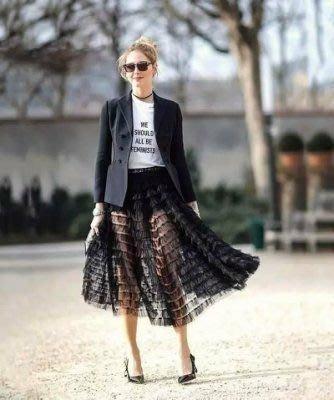 DIOR風 Angelababy同款透視蛋糕紗裙訂做 寫真 外拍 約會 歐美時裝 360度