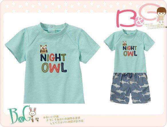 【B& G童裝】正品美國進口GYMBOREE Night Owl Tee 貓頭鷹圖樣短袖上衣4yrs