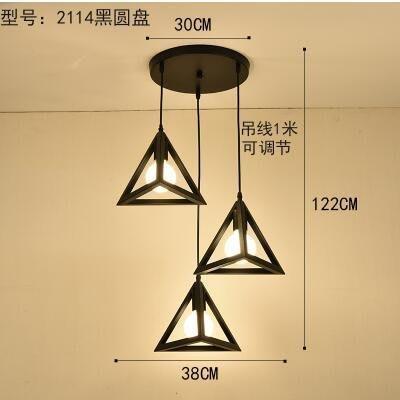 2114黑圓盤北歐餐廳吊燈創意個性餐廳燈飯廳燈現代鐵藝XSJ❤818300