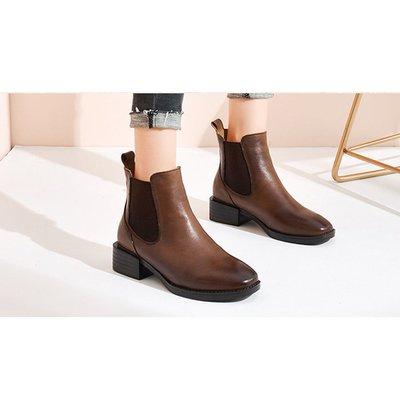 『老兵牛仔』CB-861-9復古百搭時裝馬丁靴/頭層牛皮/時尚/彈力/耐摩/個性