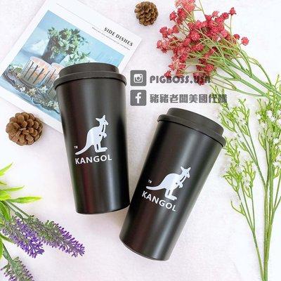 【豬豬老闆】KANGOL 黑色 經典logo 環保杯 隨手杯 不鏽鋼 保溫保冷 500ml 6925360320