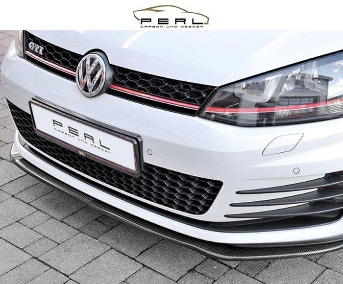 【樂駒】Perl Carbon Design Volkswagen Golf 7 GTI Carbon 碳纖維 前下擾流