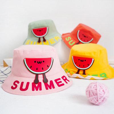 【媽媽倉庫】 夏日微笑西瓜立體造型漁夫帽 童帽