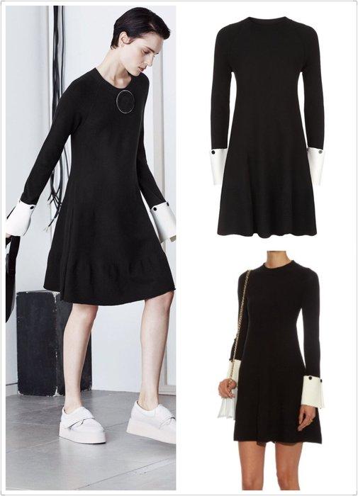 喬瑟芬【Sportmax】特價出清~2016秋冬 黑色 人造絲針織 Mini Dress
