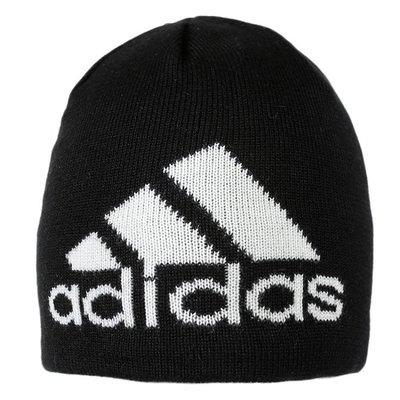 # ADIDAS 愛迪達 毛帽 黑色 基本款 大LOGO 保暖 百搭 休閒 防寒 DM8742 YTS