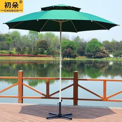 大戶外遮陽傘大太陽傘沙灘傘3米廣告傘定做庭院傘折疊擺攤傘3米 MKS免運