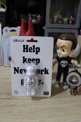 全新 絕版 be@rbrick help keep new york grimy bearbrick 吊卡