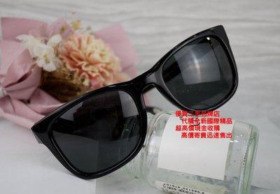 優買二手精品名牌店 givenchy 紀梵希 黑 膠框 金屬 LOGO 太陽眼鏡 眼鏡 墨鏡 特價