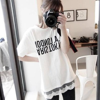 半袖女韩版夏装学生简约新款中长款大码短袖t恤女潮 女衫体恤上衣