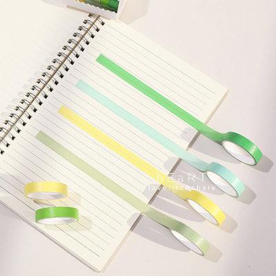 【媽媽倉庫】純色DIY黏貼手寫紙膠帶 6入裝 膠帶 裝飾美勞用具