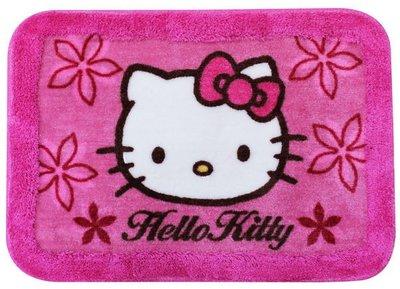 GIFT41 4165本通 三重店 凱蒂貓 HELLO KITTY KT - 花朵 加框長毛 地墊 腳踏墊 KT-0911 4710716959054