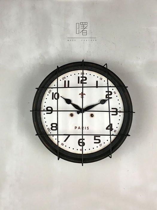 【曙muse】美式復古造型時鐘 北歐仿舊簡約掛鐘 厚實質感 擺設裝飾 loft 工業風 咖啡廳 民宿 餐廳 住家