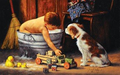 美國進口拼圖 sun 繪畫 動物 愉快的沐浴時間.300片拼圖,28387