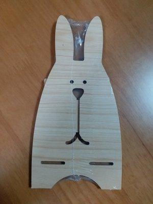 兔仔造型木製手機支架
