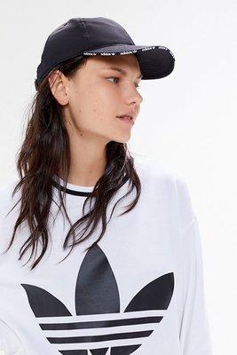代購 adidas Originals Relaxed Tape Brim Baseball Hat 黑