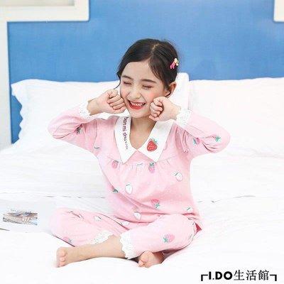 VR小鋪✿ 兒童寶寶睡衣秋季年潮新款正韓女孩公主風純棉套裝親子裝母女家居服K312G