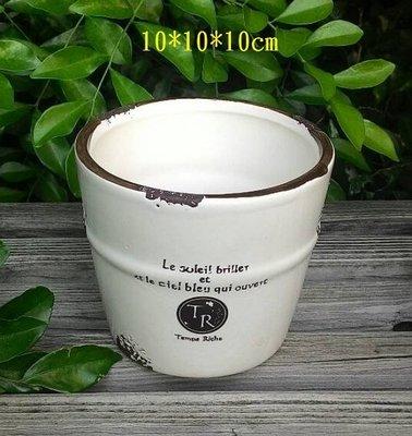 【浪漫349】多款價不同 圖1南法風格多肉植物 圓筒圓桶陶瓷小花器花盆收納罐 (1060905)