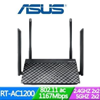 拆封品保內19.05開始 ASUS華碩 RT-AC1200 雙頻 Wireless-AC1200 分享器