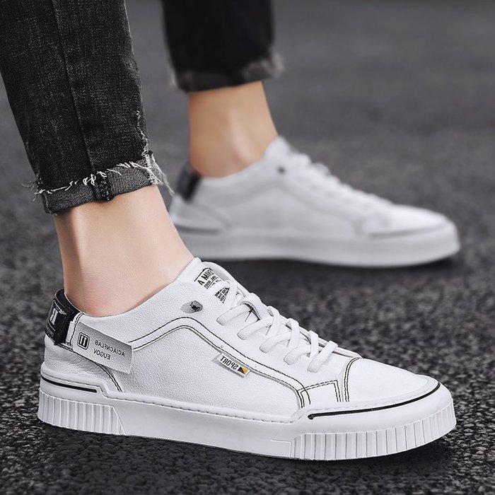 6Du spot~潮牌2020夏季新款小白鞋男鞋潮鞋時尚百搭個性透氣低幫休閑鞋板鞋