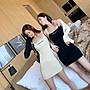 PapaDarling 20SS 獨創設計款 閨蜜款休閒簡約字母修身顯瘦 針織連身裙 吊帶洋裝