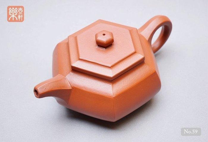【No.59】早期名家壺-與顧景舟同輩份,工藝師巢亞芬製,六角壺(1970年代)