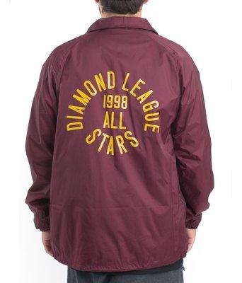 全新 特價 Diamond supply all star coach jacket 教練外套 街頭 滑板 暗酒紅 現貨M L