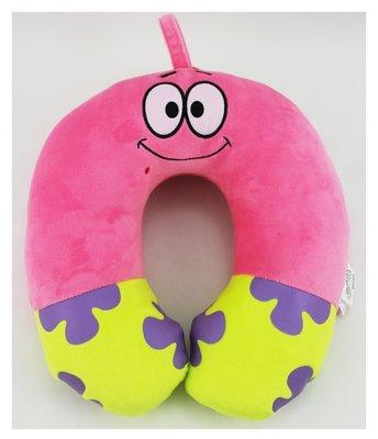 【卡漫迷】 派大星 頸枕 ㊣版 海綿寶寶 U型枕 車用 午休 午安 午睡枕 有掛環設計 枕頭 搭機 Patrick