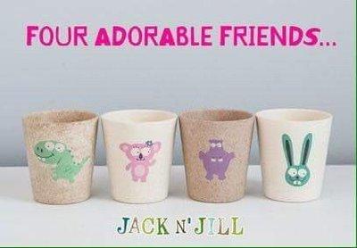 JACK N' JILL可愛動物漱口杯 現貨(兔兔/無尾熊/河馬)