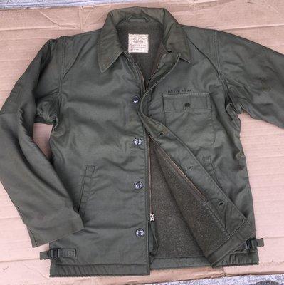 美軍巡洋艦 /公發軍用/海軍 A-2 Deck Jacket /1972年/甲板夾克 /防寒外套