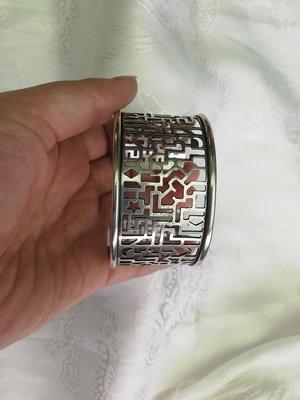 甘丹文物 ^_^ 秀雅 簍空 個性  藏銀 手鐲 手環 寬版