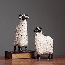 〖洋碼頭〗北歐創意綿羊擺件家居現代簡約抽象酒櫃婚房擺飾結婚禮物生日禮品 hbs190