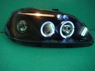》傑暘國際車身部品《 K8 JC JM改款前.改款後黑框光圈LED燈眉魚眼大燈