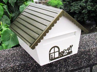 ☆成志金屬廠 ☆ 304不鏽鋼房屋型信箱,精美大空間容納大量信件,可加購直立桿。