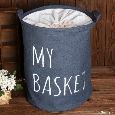 小麥夢 圓形臟衣籃新穎歐式棉麻衣物桶儲物收納桶A296U