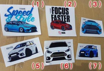 Focus MK3 MK3.5 ST RS 可愛貼紙 (預購中 20cm)