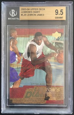 2003-04 Upper Deck LeBron James 詹皇 RC 新人卡 鑑定 BGS 9.5
