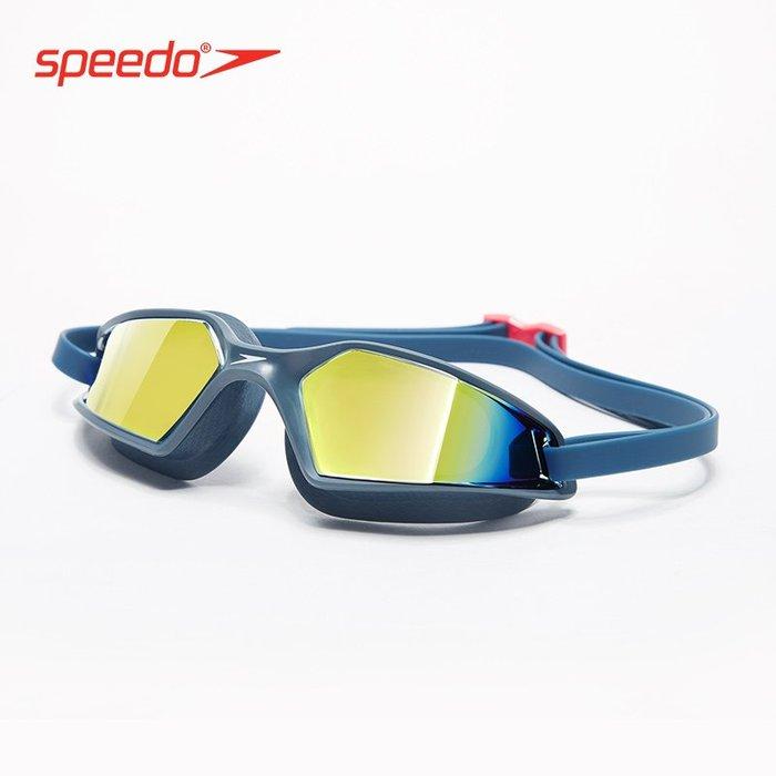 @西西小鋪 個性speedo速比濤泳鏡防水防霧高清游泳鏡男女 大框鍍膜貼合游泳眼鏡