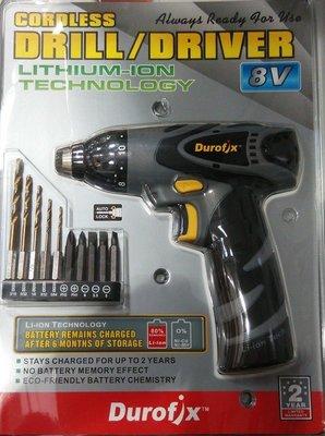 美國 Durofix德克斯 8V RD8102 充電電鑽 充電起子 鋰電電鑽 電動起子《Costco商品代購》車王制造