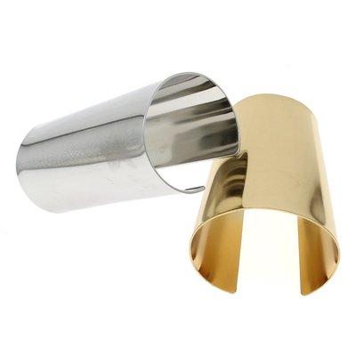 韓國飾品館&歐美夸張時尚百搭手鐲 湯唯同款金色光面寬版手鐲 手環飾品配飾