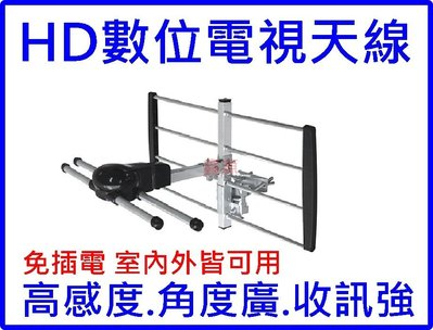 HD高畫質數位電視天線  安裝簡易 室內外皆可用 體積小 免插電 免費收看HD數位節目 HD天線 戶外型HD數位天線