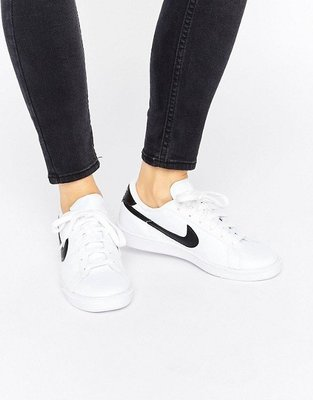 代購 Nike Classic Trainers  經典白 黑logo 女版