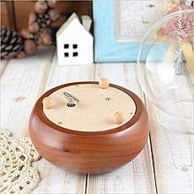 音樂青蛙Sweet Garden, 12cm玻璃球內轉音樂盒 蜂蜜色底座(可選曲) 可彩繪 乾燥花永生花 紙藝串珠設計