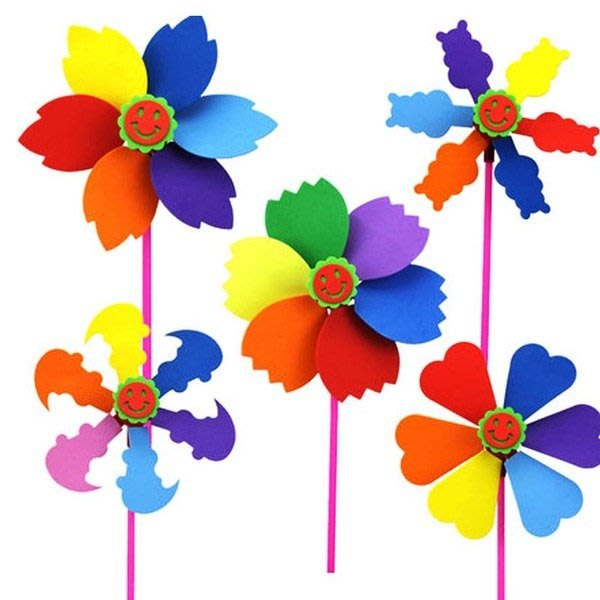 〔小玩子〕風車 兒童勞作  全現貨出貨迅速   兒童貼畫  兒童DIY 美勞 材料包 安親班教材