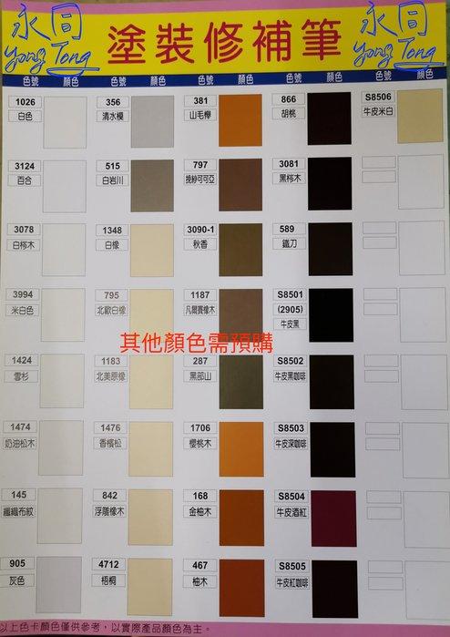 『YT五金』(需預購35支/盒) EZ ON 修補筆 家具 補色劑 補漆筆 萬用木器筆 補色筆 補土筆 台灣製造