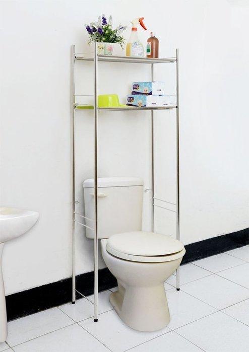 ☆成志金屬☆304不鏽鋼落地式馬桶置物架*雙層大空間,滿足浴室需求。不銹鋼收納架