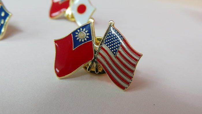 美國雙旗徽章,50入組