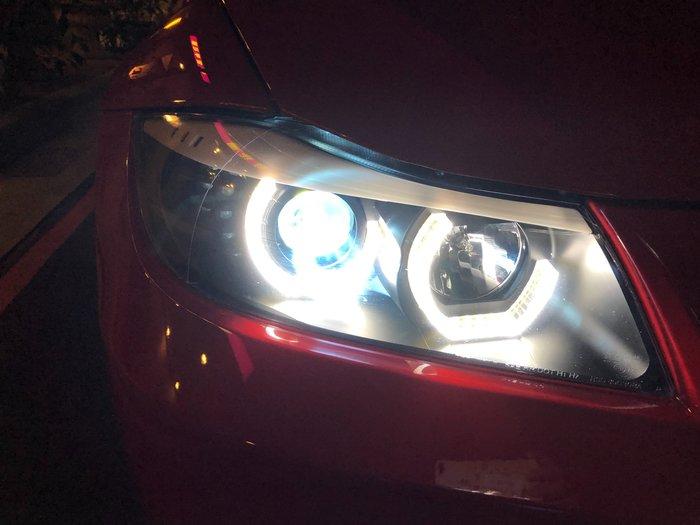 DJD19100320 BMW E90魚眼大燈總成 3D光圈
