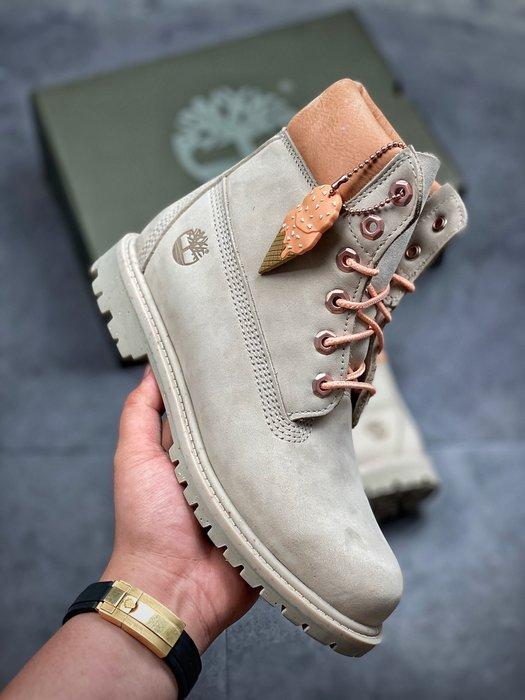 正品Timberland x BILLIONAIRE BOYS CLUB 聯名款冰淇淋合作款馬丁靴 35-39碼