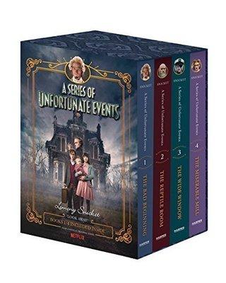 雷蒙斯尼奇的不幸歷險電視劇版套裝(1-4)英文原版 科幻小說 A Series Of Unfortunate Events Lemony Snicket 精裝