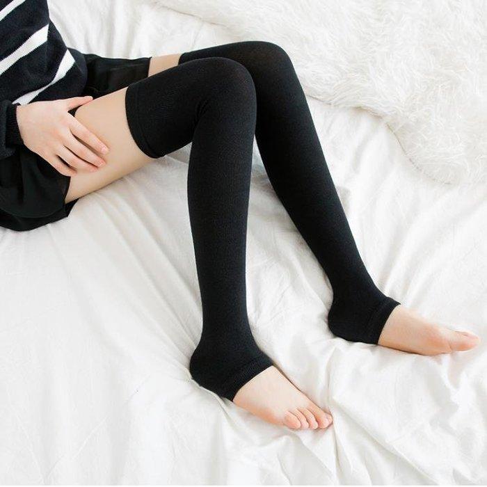 「全店免運」【2個】長筒襪日系純棉踩腳襪套護膝保暖過膝襪 【品壹家店】